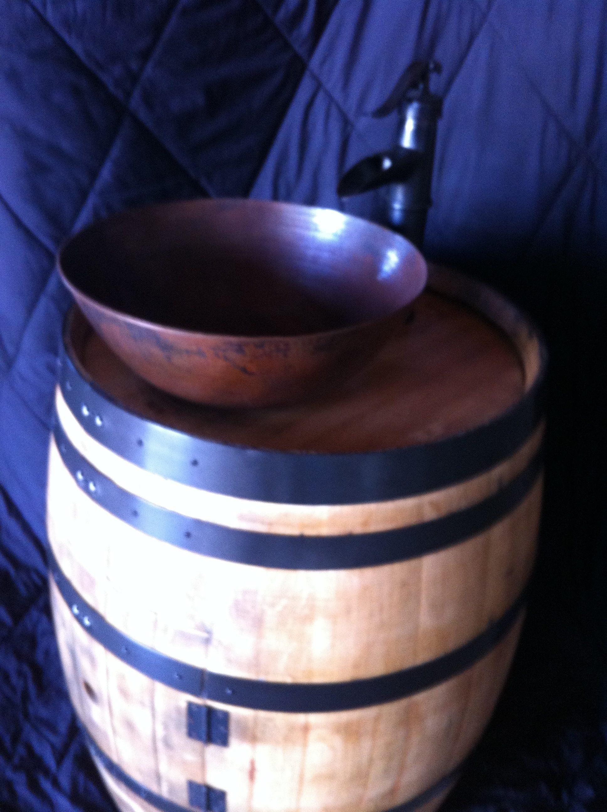 Wine Barrel Vessel Sink
