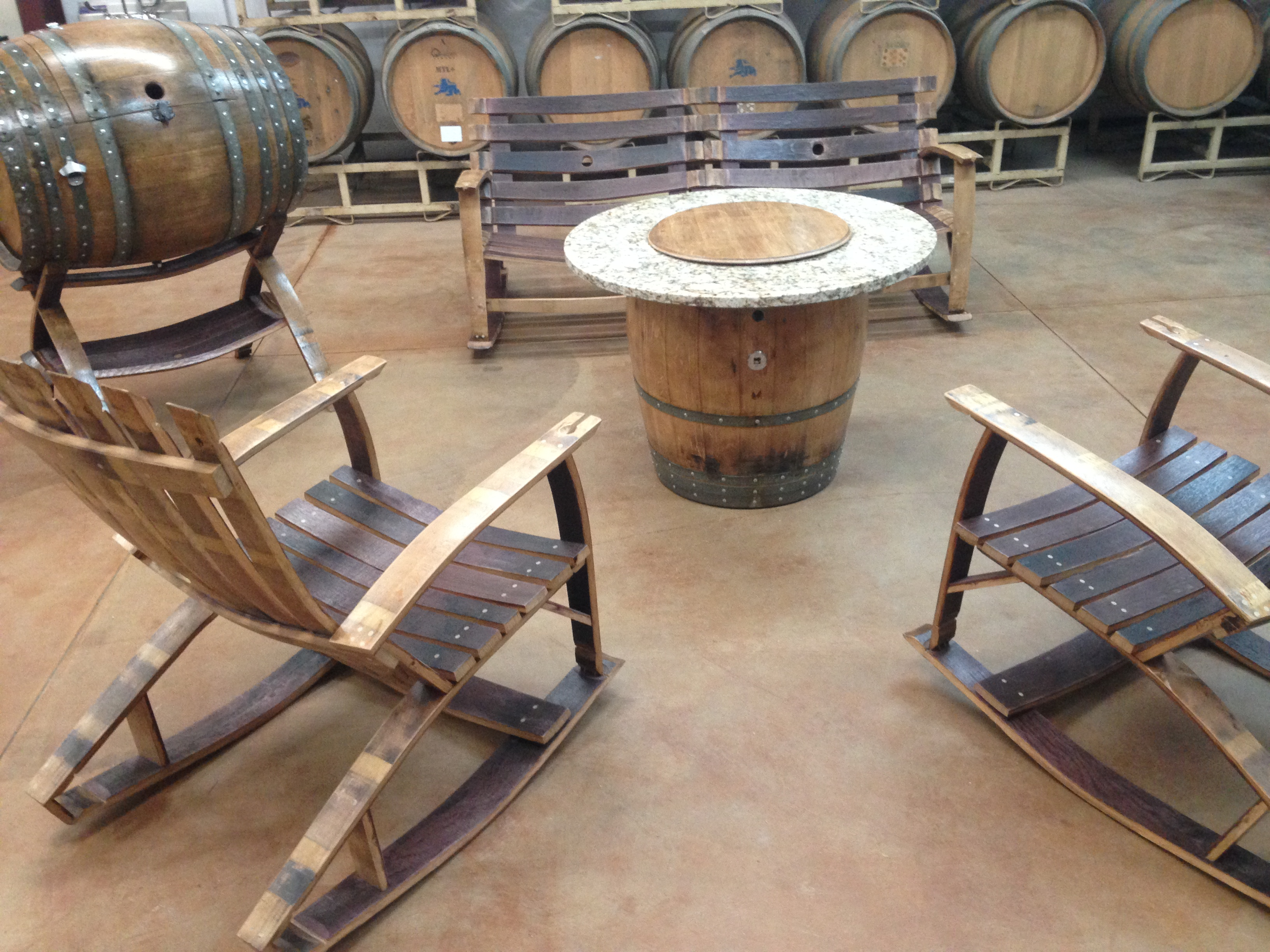 Wine Barrel Full Patio Set