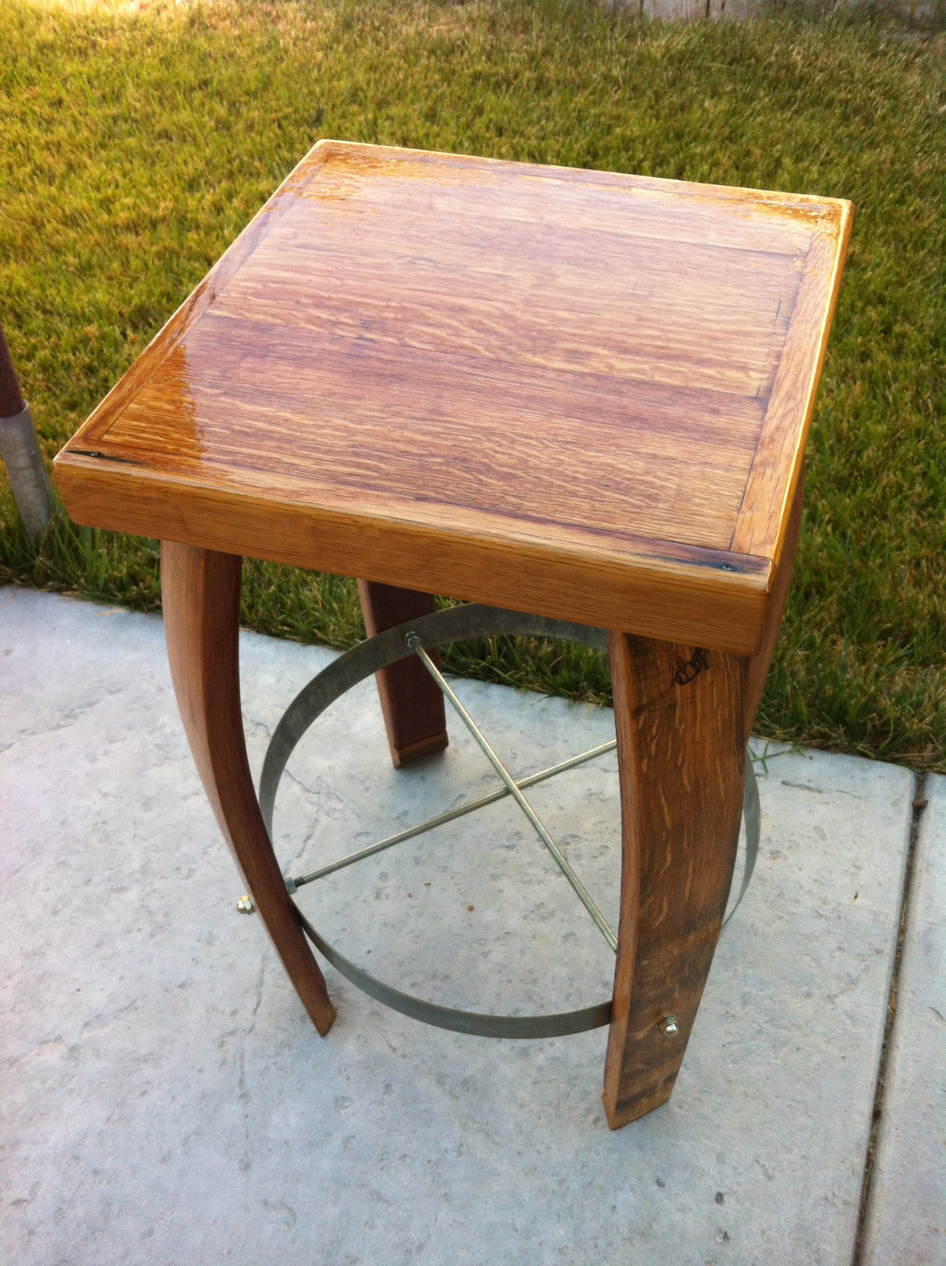Square Fixed Bar Stool